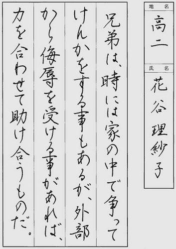 191214 特待生 花谷理紗子